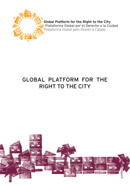Flyer Global Platform R2C - Global Platform For The Right To The City