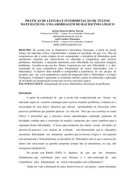 práticas de leitura e interpretação de textos matemáticos