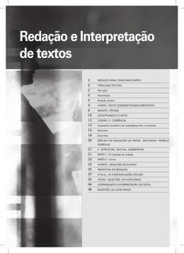 Redação e Interpretação de textos