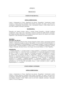 ANEXO II PROGRAMAS ENSINO FUNDAMENTAL LÍNGUA
