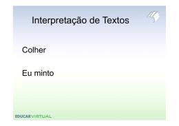 Interpretação de Texto - Slides ( [Modo de Compatibilidade