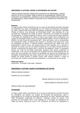 mediando a leitura - Associação de Leitura do Brasil