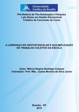 Márcia regina Santigo Campos - Universidade Católica de Brasília