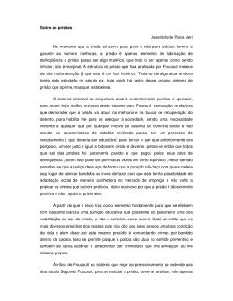 Sobre as prisões Josenildo de Paiva Neri No momento que a prisão