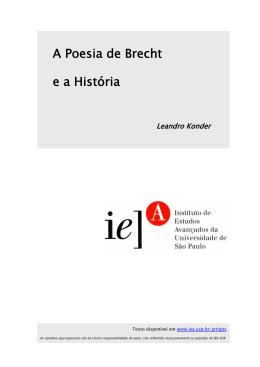 A Poesia de Brecht e a História