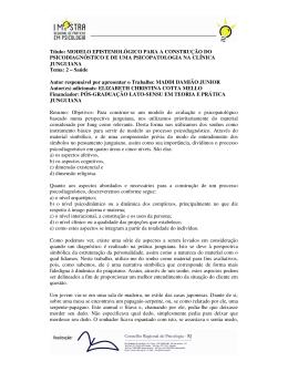 MODELO EPISTEMOLÓGICO PARA A CONSTRUÇÃO - CRP-RJ