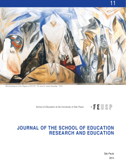 JOURNAL OF THE SCHOOL OF EDUCATION RESEARCH AND