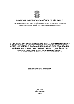 o journal of organizational behavior management