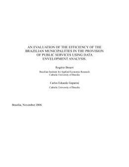 an evaluation of the efficiency of the brazilian municipalities in the