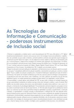 As Tecnologias de Informação e Comunicação – poderosos