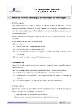 Matriz da Prova de Tecnologias de Informação e Comunicação