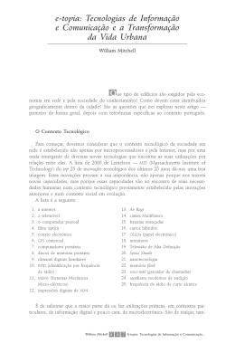 e-topia: Tecnologias de Informação e Comunicação e a