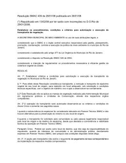 Resolução Nº 439 de 28/01/2008