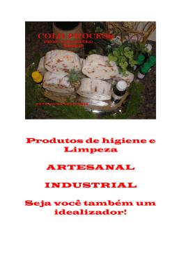 Recfitas de diversos produtos de limpeza