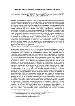 ESTUDO DA DESIDRATAÇÃO OSMÓTICA DE