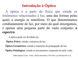 Introdução à Óptica