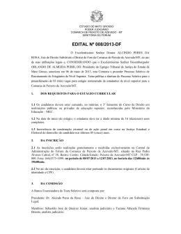 edital nº 008/2013-df - Tribunal de Justiça do Estado de Mato Grosso