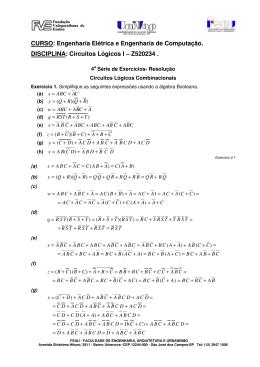 Circuitos Lógicos I – Z520234