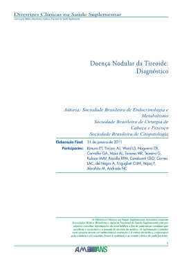 Doença Nodular da Tireóide: Diagnóstico