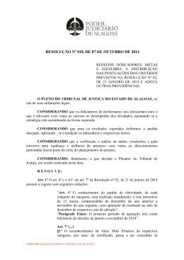 Resolução nº 18/2014 - Tribunal de Justiça do Estado de Alagoas