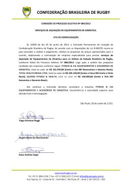Timbrado 2012 - Confederação Brasileira de Rugby