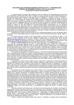 relatório das atividades desenvolvidas pelo gtt 4