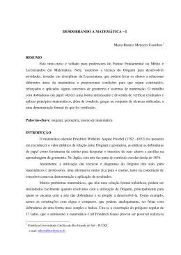 DESDOBRANDO A MATEMÁTICA – I Maria Beatriz Menezes