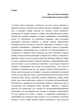 Projeto Maria de Fátima Guimarães Universidade São Francisco