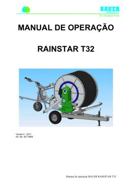 MANUAL DE OPERAÇÃO RAINSTAR T32