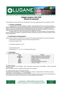 3-Manual de operação relógio sinaleiro LVR-1949