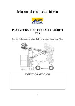 Plataforma de Trabalho Aereo - PTA