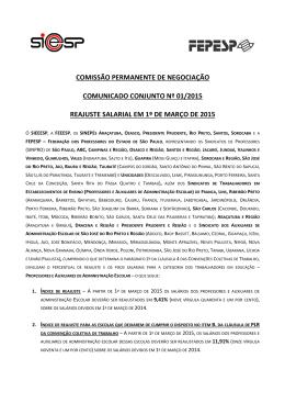 Comunicado Conjunto - Sindicato dos professores de Bauru