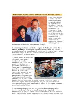 Entrevista: Michel Gorski e Maria Cecília Barbieri Gorski