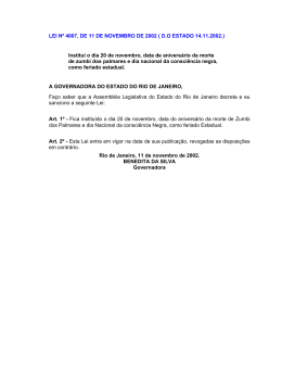 LEI Nº 4007, DE 11 DE NOVEMBRO DE 2002 ( D.O - Sinduscon-Rio