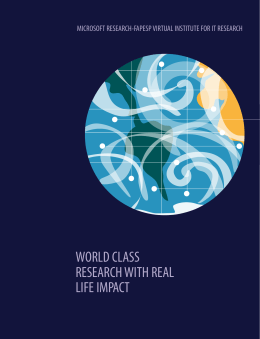 WORLD CLASS RESEARCH WITH REAL LIFE IMPACT