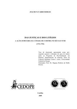 das justiças e dos litígios - DSpace