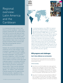 Regional overview: Latin America and the Caribbean