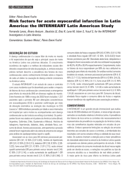 Risk factors for acute myocardial infarction in Latin America: the