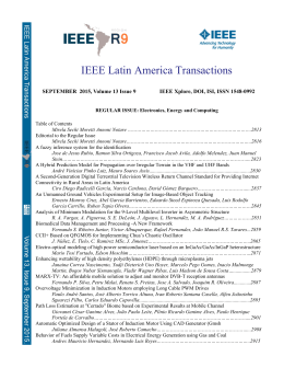 IEEE Latin America Transactions - RevistaIEEE-AL
