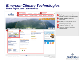 Emerson Climate Technologies New Latin America Website
