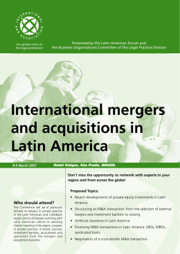 International mergers and acquisitions in Latin America