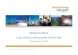 Deutsche Bank Latin America Renewable Power Day