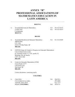 "ANNEX ""B"" PROFESSIONAL ASSOCIATIONS OF MATHEMATICS"