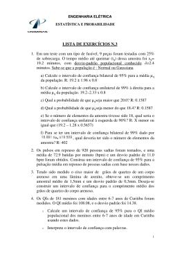 LISTA DE EXERCÍCIOS N.3