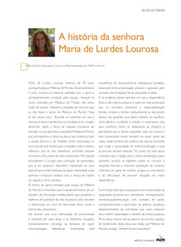A história da senhora Maria de Lurdes Lourosa