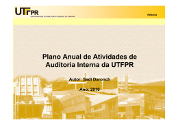 AUDIT - PAINT (Plano Anual de Auditoria Interna)