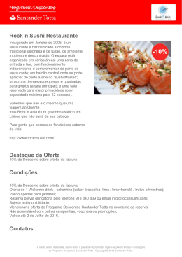 Rock´n Sushi Restaurante Destaque da Oferta