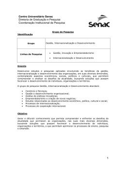 Grupo de Pesquisa em Gestão Internacionalização e