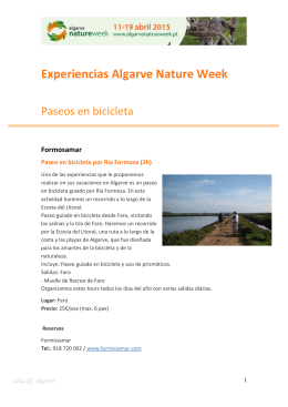 Experiencias Algarve Nature Week