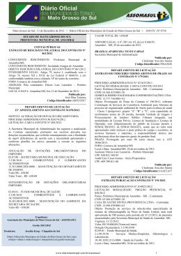 Mato Grosso do Sul , 13 de Dezembro de 2012 • Diário Oficial dos
